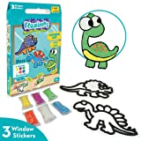 Imagimake Fleximos Dinos Pals DIY Window Art – Dotz Multi-Colour Air Dry Clay Art Playset - for Girls and Boys 3 Years…