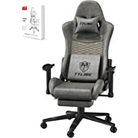 TYLINK Gaming Stuhl, Gaming Chair Sessel PC Racing Ergonomischer Stuhl Gamer Stühle Bürostuhl, Einstellbare Armlehne…