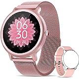 NAIXUES Smartwatch Mujer, Reloj Inteligente IP68 con 24 Modos de Deporte, Pulsómetro, Monitor de Sueño, Notificaciones Inteli