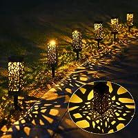 Solarleuchte Garten, 6 Stück Warmweiß Led für außen Wasserdicht, Tomshine Solar Dekorative Licht für Landschaftsrasen…