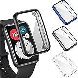 FITA 3-Pack Skärmskydd kompatibelt med HUAWEI Watch Fit, [Full täckning] [Hög klarhet] [Touch Friendly] TPU Fodral kompatibel