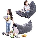Gosig djur förvaring sittsäck barn leksak mjuk leksak förvaring sittsäck vikbar extra stor väska ränder stol soffa för barn