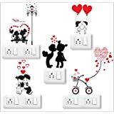 Wall Attraction Love Couples Wall Switch Wall Sticker for Home Decoration, Bedroom Decor, Office Decor (Size - 10X12inch…
