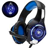 Cuffie Gaming con Microfono Cuffie Bass Stereo per PS4 PS5 Cuffie Xbox One Cancellazione del Rumore Controllo Volume per…