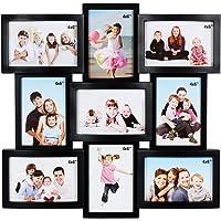 JaipurCrafts WebelKart Premium Collage Photo Frame (Photo Size - 4 x 6, 9 Photos) (Black)