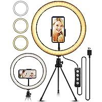 ELEGIANT LED Ringlicht Stativ,10.2' Selfie Ringleuchte Makeup dimmbar 3 Lichtfarben+11…