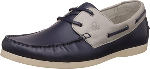 United Colors of Benetton Men's Leather Boat Shoes