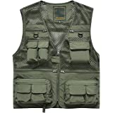 Naudamp Men's Outdoor Fishing Vest Quick Dry Lightweight Breathable Photography Vests Camping Hunting Gilet Waistcoat Multi P
