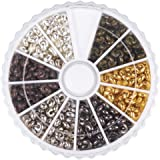 PandaHall Elite 1 Scatola Promo Fisso Perline Piccole Crimp Beads Copre per Fabbricazione di Gioielli
