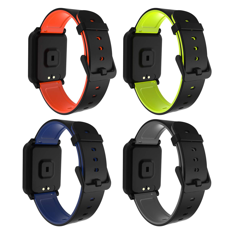Fitpolo Pulsera de Actividad Inteligente Impermeable IP67,Pulsómetro Mujer Hombre, Monitor de Actividad Deportiva, Reloj… 1