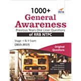 1000+ General Awareness Previous Years One Liner Questions of RRB NTPC Stage –I & II Exam (2015-2017)