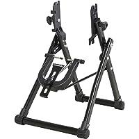 HOMCOM Stand de réparation de Roue de vélo - Pied d'atelier vélo Pliable - Compatible pneus 20-29 Pouces - Acier Noir