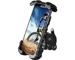 Lamicall Supporto Telefono Bicicletta, Metallico Supporto Motociclo - Universale Manubrio Supporto Cellulare per iPhone 12, 1