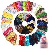 50 stuks fluwelen haarelastiekjes scrunchies elastische zachte haarbanden kleurrijke haaraccessoires haartouw voor dames meis
