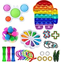 Ashudan Sensory Simple Dimple Toys,Popular Stress-Relieving Toys 2 Pieces Easy to Play and Addictive Stress-Relieving Toys,Silicone Eergonomic Fidget Toys for Kids and Adults