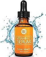Das beste Vitamin C Serum für Ihr Gesicht mit 20% Vitamin C + Hyaluronsäure + Vitamin E + Jojobaöl. Natürliche AntiAging + Anti Falten + Bio Kollagen Booster Gesichtsserum mit organischen Inhaltsstoffen. Ideal für den Einsatz mit einer Derma Roller.