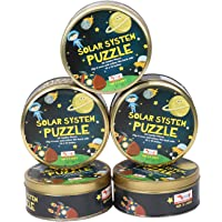 CocoMoco Kids Return Gift Combo Pack for Kids Birthday Party - 5 Pieces of Solar System Puzzle, 30 Pieces (Multicolour)