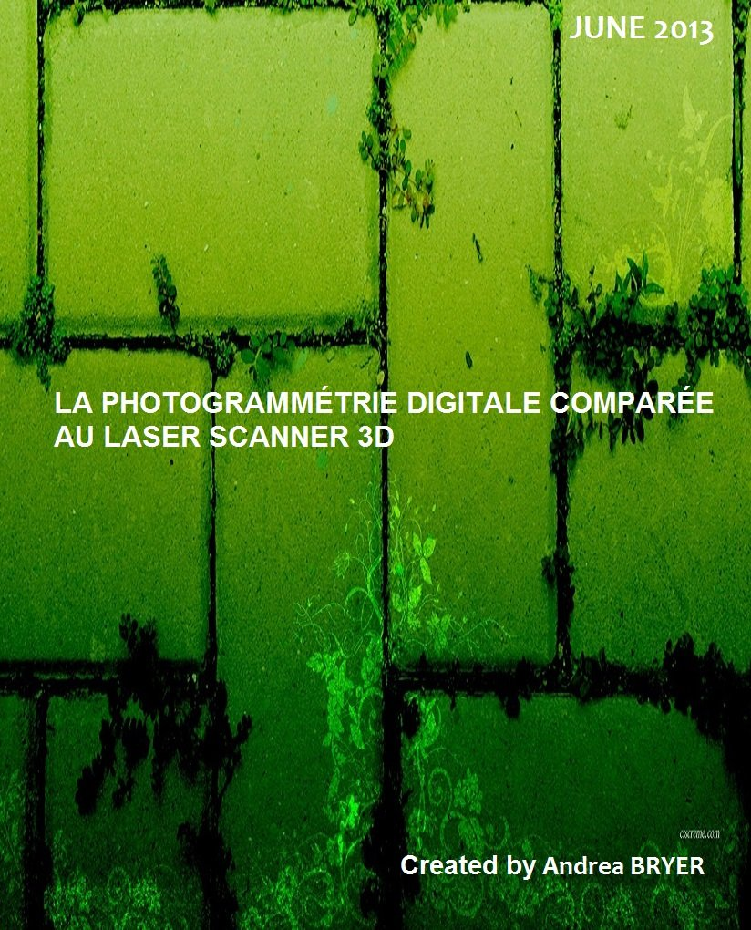 LA PHOTOGRAMMÉTRIE DIGITALE COMPARÉE AU LASER SCANNER 3D