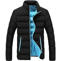 Fannyfuny-DIY Mens Insulated Jackets Waterproof Work Jacket Rain Coats Golf Padded Jacket Lightweight Warm Packable…