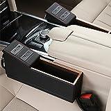 Toprated Autositz-Ritzenfüller, Organizer, mit USB-Ports, Leder