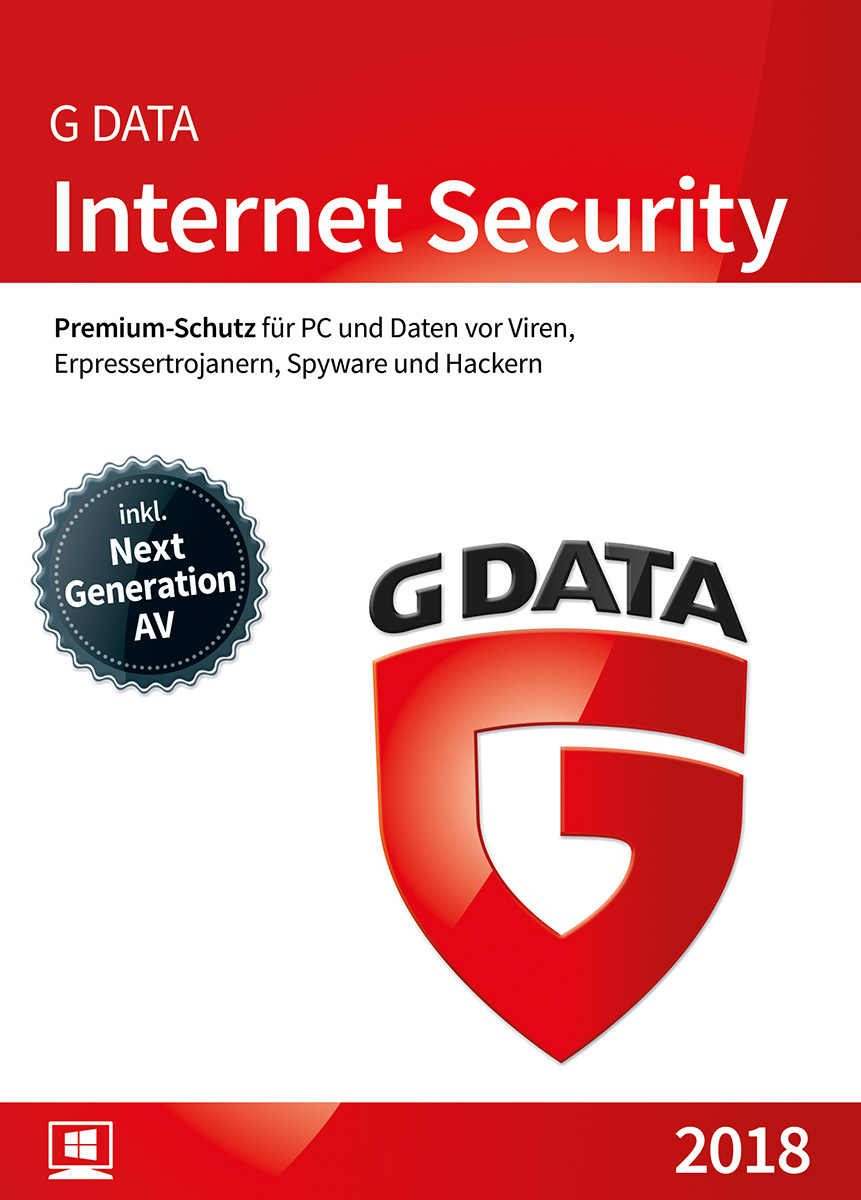 Produktbild G DATA Internet Security (2019) / Antivirus Software / Virenschutz für 1 Windows-PC / 1 Jahr / Trust in German Sicherheit  [Download]
