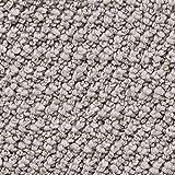 Teppichboden Auslegware | Schlinge gemustert | 400 und 500 cm Breite | hell-grau silber | Meterware, verschiedene Größen | Größe: 3 x 5 m