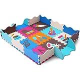 XMTMMD Baby Puzzle matte Play Bereich Weich ineinandergreifende SCHAUMSTOFF Spielmatte Set Schutz Bodenbelag Fliesen für Kinder AM06B