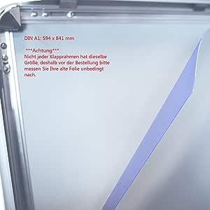 mit Antireflex und UV Schutz Wechselrahmen Klapprahmen oder Plakatst/änder Dicke 0,5mm. Plakatrahmen 10x DIN A2 420 x 594 mm Ersatzfolie Schutzfolie Folie f/ür Kundenstopper