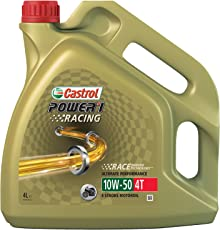 Castrol Power Synthetic 58.904 1 Racing 4T Olio motore SAE 10W-50, 4 litri