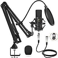 Microfono a Condensatore, TONOR Microfono Professionale Cardioid XLR con Braccio T20, Supporto Antiurto, Filtro Pop per…