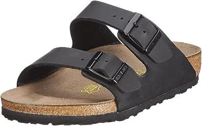 Birkenstock Arizona Nero Gum Uomo Pelle Sandals Scarpe