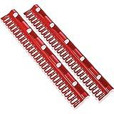 LeifHeit 81534 Kit de support Plastique Rouge 7,5 x 2 x 39 cm 2 Pièces
