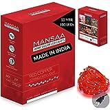 Mansaa Essentials - Copper String LED Lights - Home Decoration (1, RED (33ft, 100 LEDs))