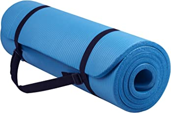 Yoga Mat - Fitness Mat - Meditation Mat Extra Thick High Density Non Slip - 71inch Long 10mm Thick NBR Comfort Foam for Exercise, Yoga and Pilates with Carrying Strap