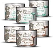 MjAMjAM - Premium natvoer voor honden - monopakket I - met lam en poete, 6-pack (6 x 200 g), natuurlijk met extra veel vlees