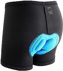 Sportneer Fahrradhose Herren Unterhose mit 3D Polsterung Radfahrhose Shorts Unterwäsche mit Anti-Rutsch Beinabschluss schweißabweisend