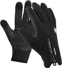 Motenik Touchscreen Handschuhe,Wasserdicht Handschuhe für Herren und Damen