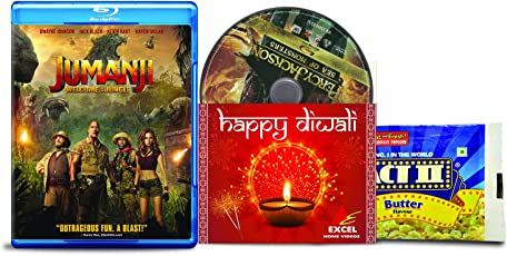 Jumanji: Welcome to the Jungle + Percy Jackson: Sea of Monsters - 2 English Movies (2 Blu-ray bundle offer)