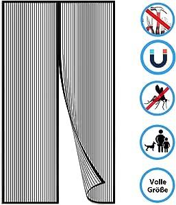 Schwarz Aibingbao Magnet Fliegengitter Balkont/ü 170x210cm 67x83inch Moskitonetz T/üR Magnet Fliegenvorhang Klebemontage Rahmen Ohne Bohren Balkont/ür
