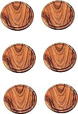 Neustanlo 6 Stück Grillteller/Brotzeitbrettchen aus Akazien Holz