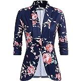 UNibelle Blazer Donna Elegante Casual Giacche da Abito Slim Fit Manica 3/4 S-XXL