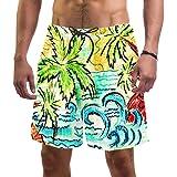 LORVIES - Bañador para hombre, diseño de árbol de coco