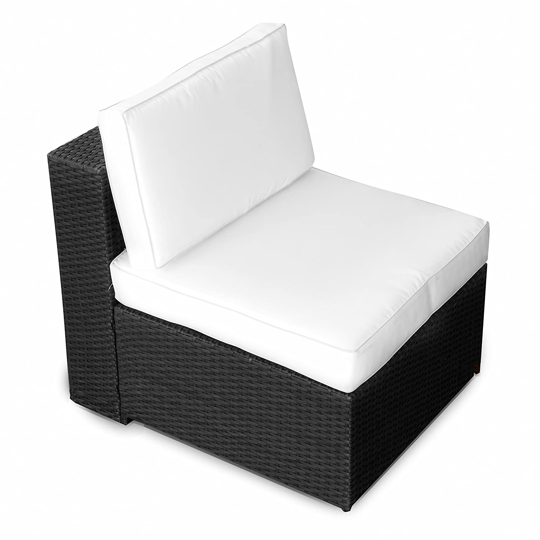 Amazon.de: XINRO (1er) Polyrattan Lounge Sessel - Mittelteil ...