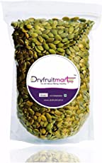 Dryfruit Mart Raw Pumpkin Seeds Organic Without Shell for Eating, 1kg Weight (Green)