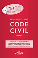 Code civil 2020 annoté. Édition limitée - 119e éd.