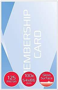business card 2 x 125 micron lucide premium quality 100 pouches per plastificazione a caldo 60 x 90