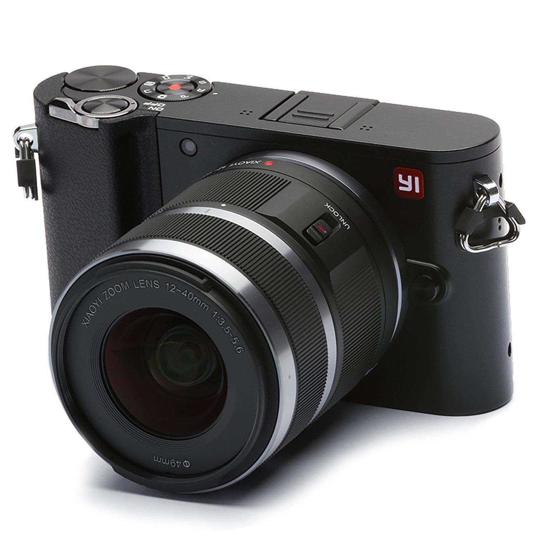 YI M1 4K cámara Digital sin Espejo con Lentes Intercambiables 12-40mm F3.5-5.6 20 Megapixel Negro tormenta