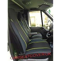 Black Front Single Double Van Seat Covers 2+1 Set For VOLKSWAGEN VW LT35