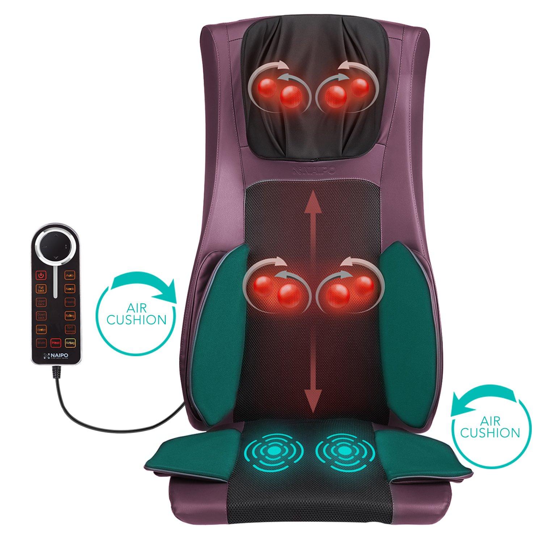Shiatsu Schiena Collo Cuscino da massaggio Dispositivo Massaggio Calore ROSSA RELAX