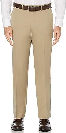 Perry Ellis Men's Flat Front Classic Fit Cotton Pant